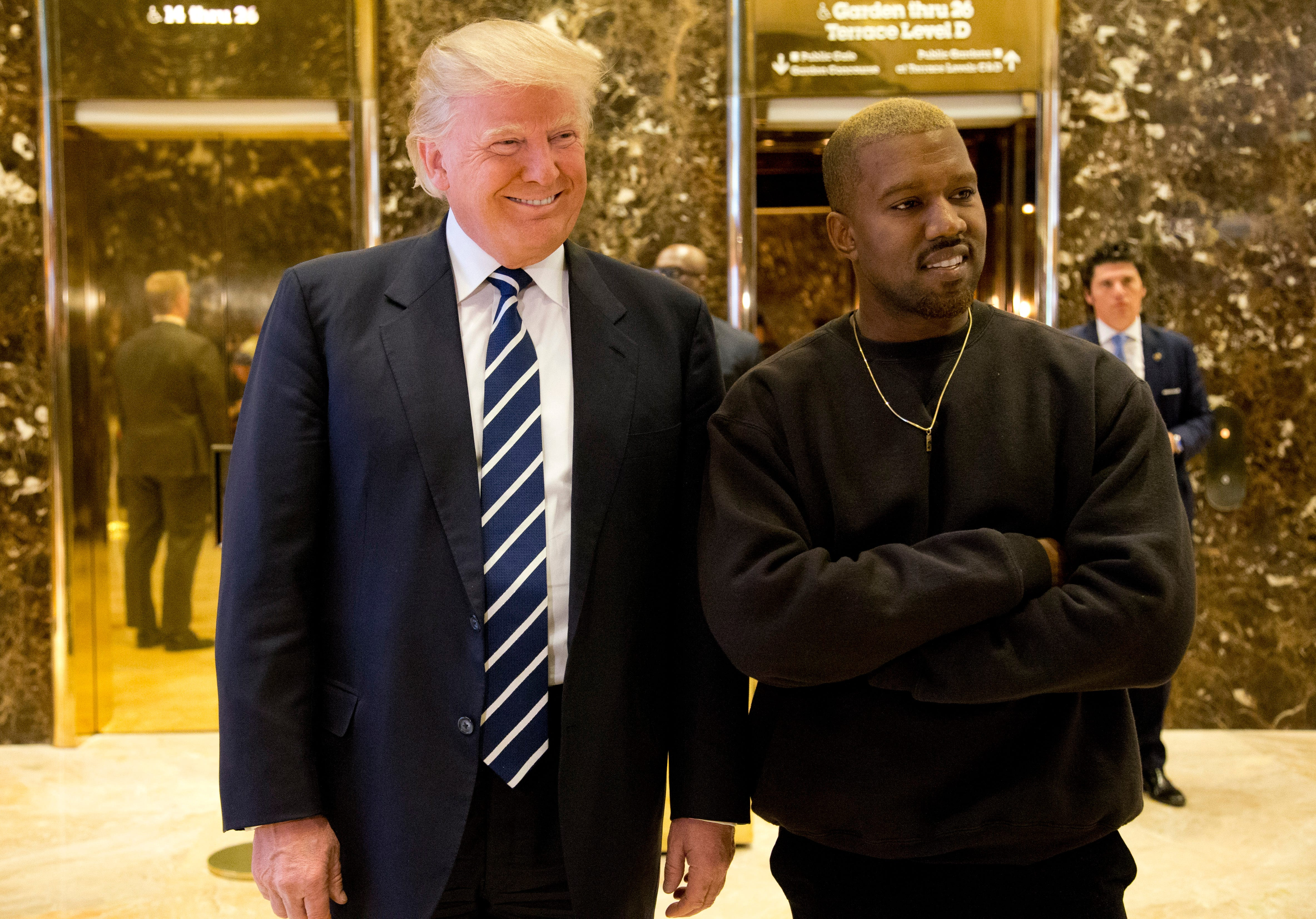 Kanye West goes silent when Jimmy Kimmel asks why he thinks Trump cares about black people