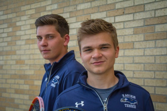 Konnor Barth, left, and David Horak of Xavier took second place at state in Division 2 doubles during their season senior.