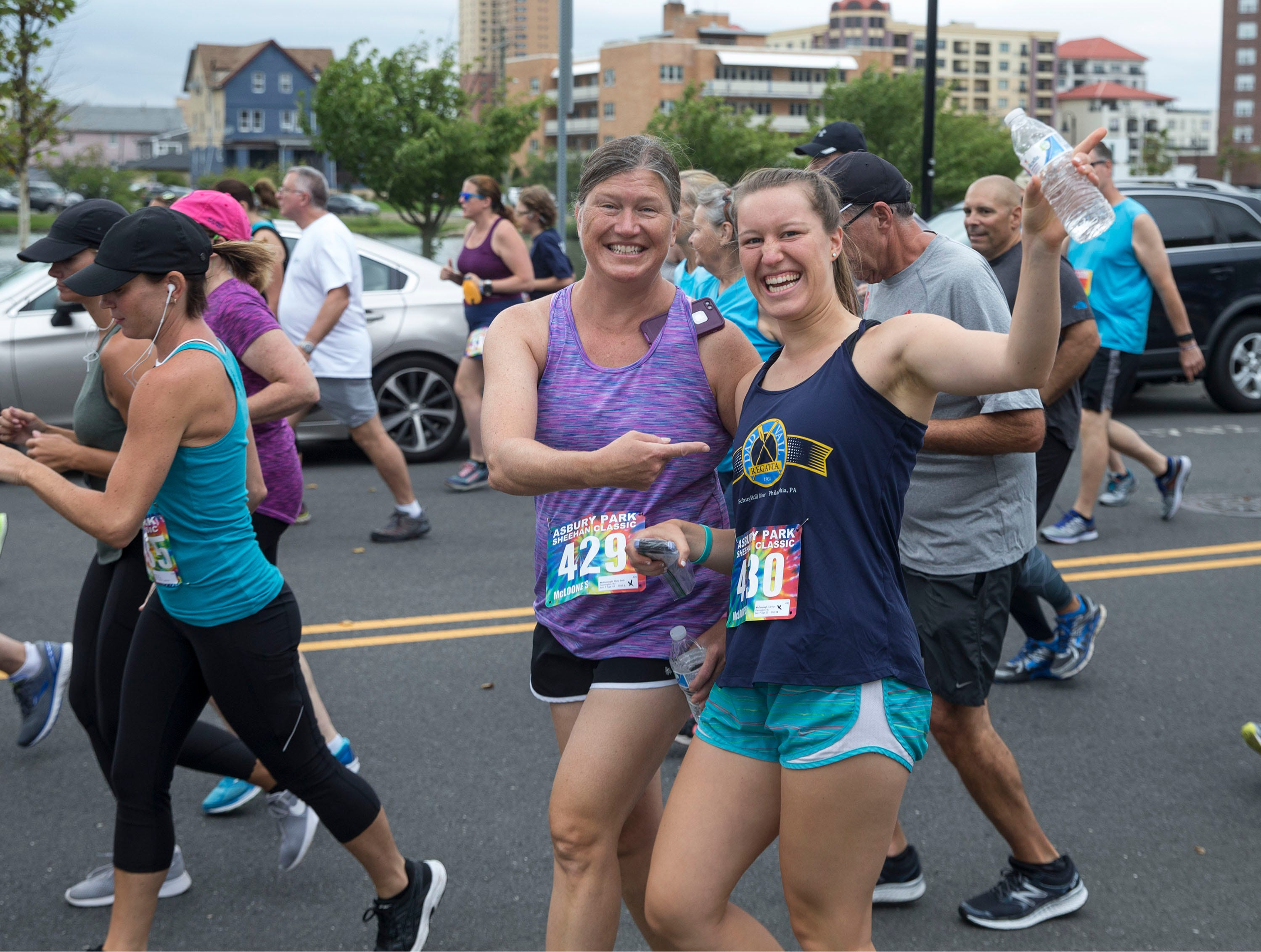 The Asbury Park 5K race makes its way along city streets and finishes after a stretch on the boardwalk. 