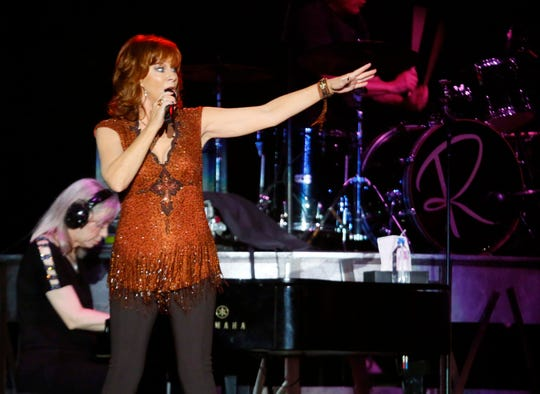 Reba McEntire plays the Iowa State Fair grandstand Friday, Aug. 10, 2018.