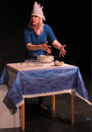 "Katy Kujala Cronin in ""Shark Week,"" one of the plays produced at the 20107 edition of BoxFest Detroit."