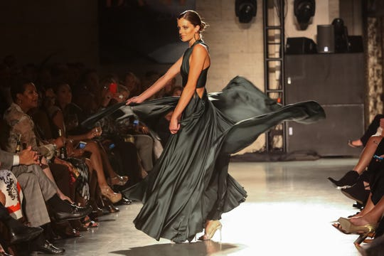 The Neiman Marcus runway show in the DIA's Great Hall is the star attraction at Fash Bash.