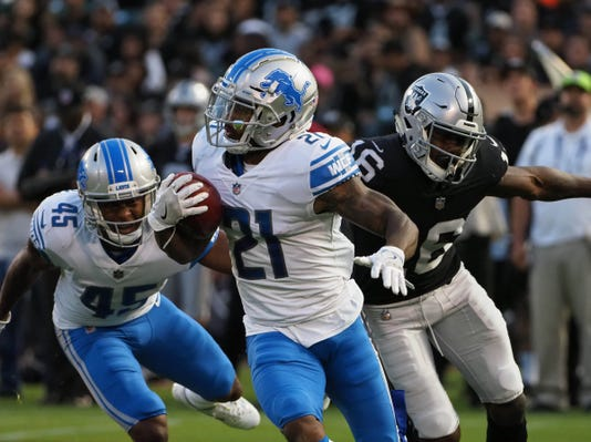 Nfl Detroit Lions At Oakland Raiders