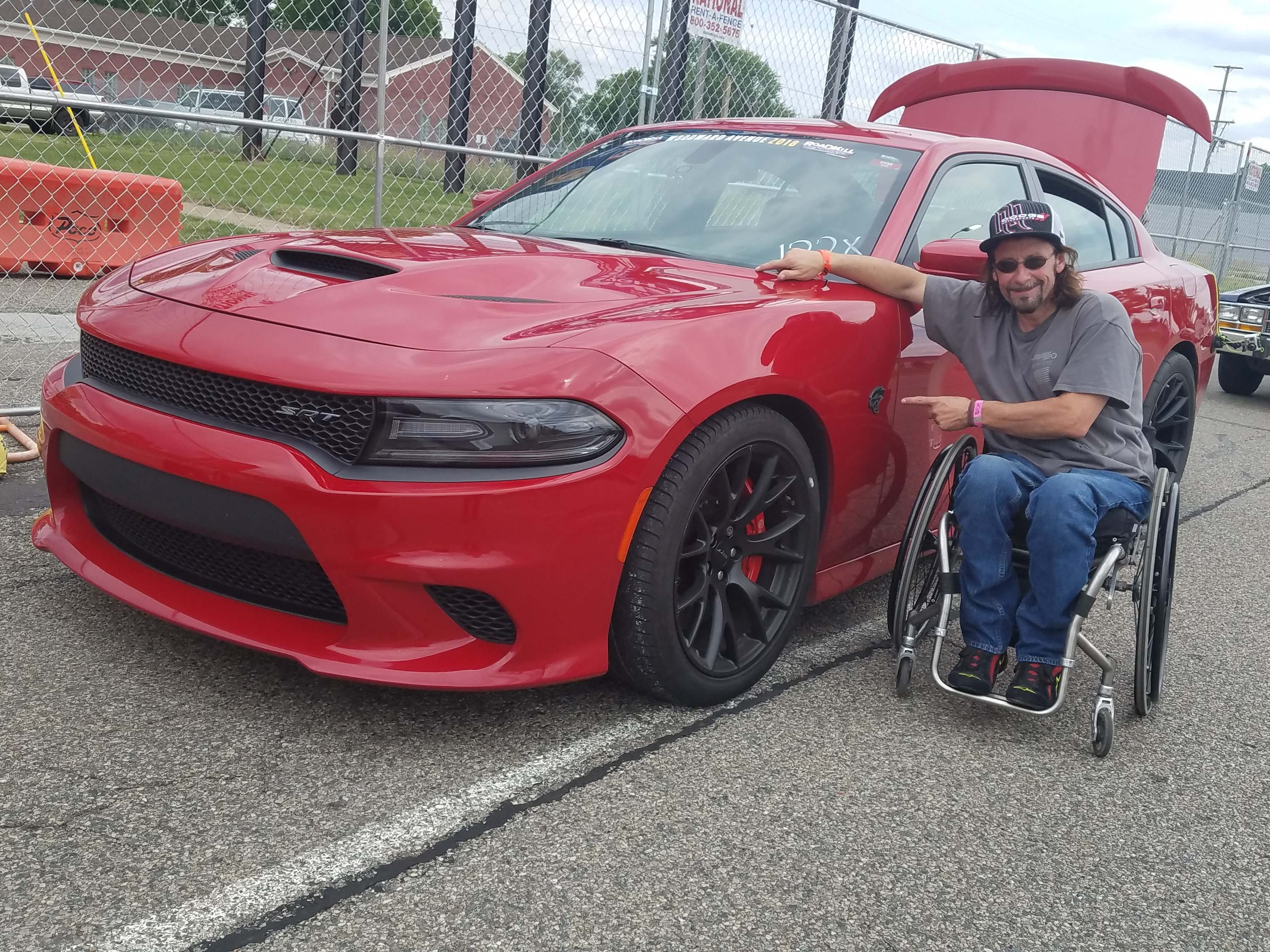 Marc Henretta and his Charger Hellcat.