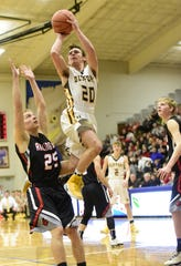 Old Fort's Jacob Webb finished his career fourth on the program's all-time scoring list.
