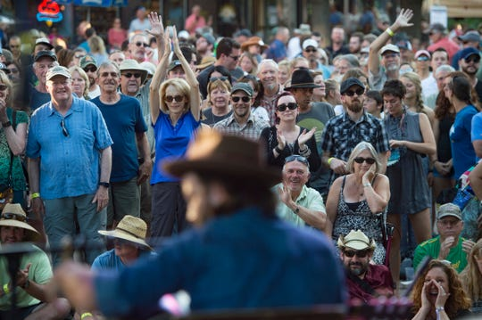 Jalan Crossland performs on the Old Town Square Stage during Bohemian Nights at NewWestFest in Old Town on Friday, August 10, 2018.