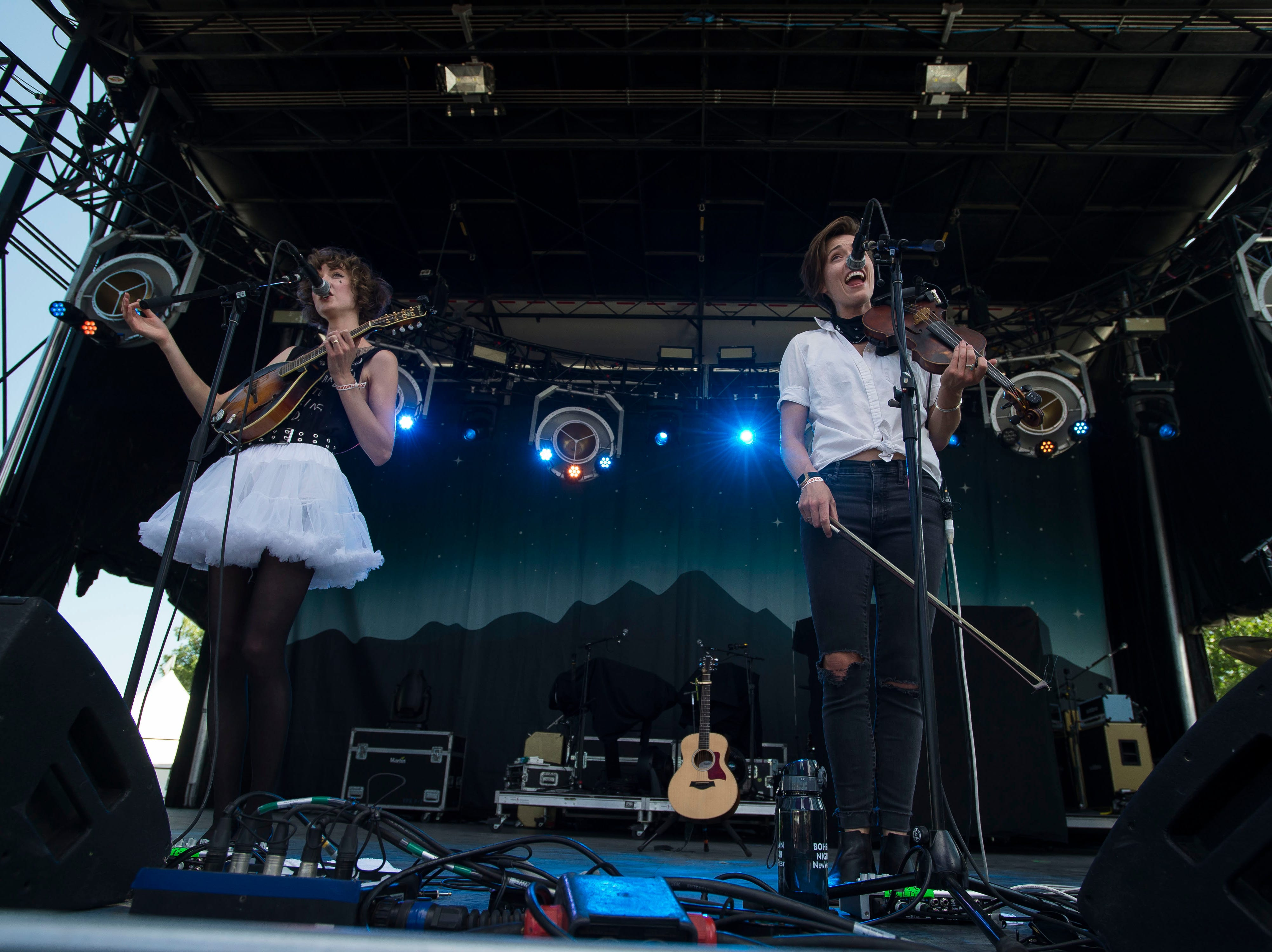 Shel, a band that began in Fort Collins and now resides in Nashville, plays the Mountain Avenue stage during the second day of Bohemian Nights at NewWestFest on Saturday, Aug. 11, 2018, in Old Town Fort Collins, Colo.