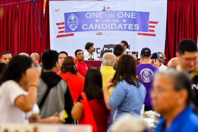 "Members of the voting public and others met with prospective and incumbent island leaders during an ""One on One with Candidates"" event in the center court of the Micronesia Mall in Dededo on Saturday, Aug. 11, 2018."