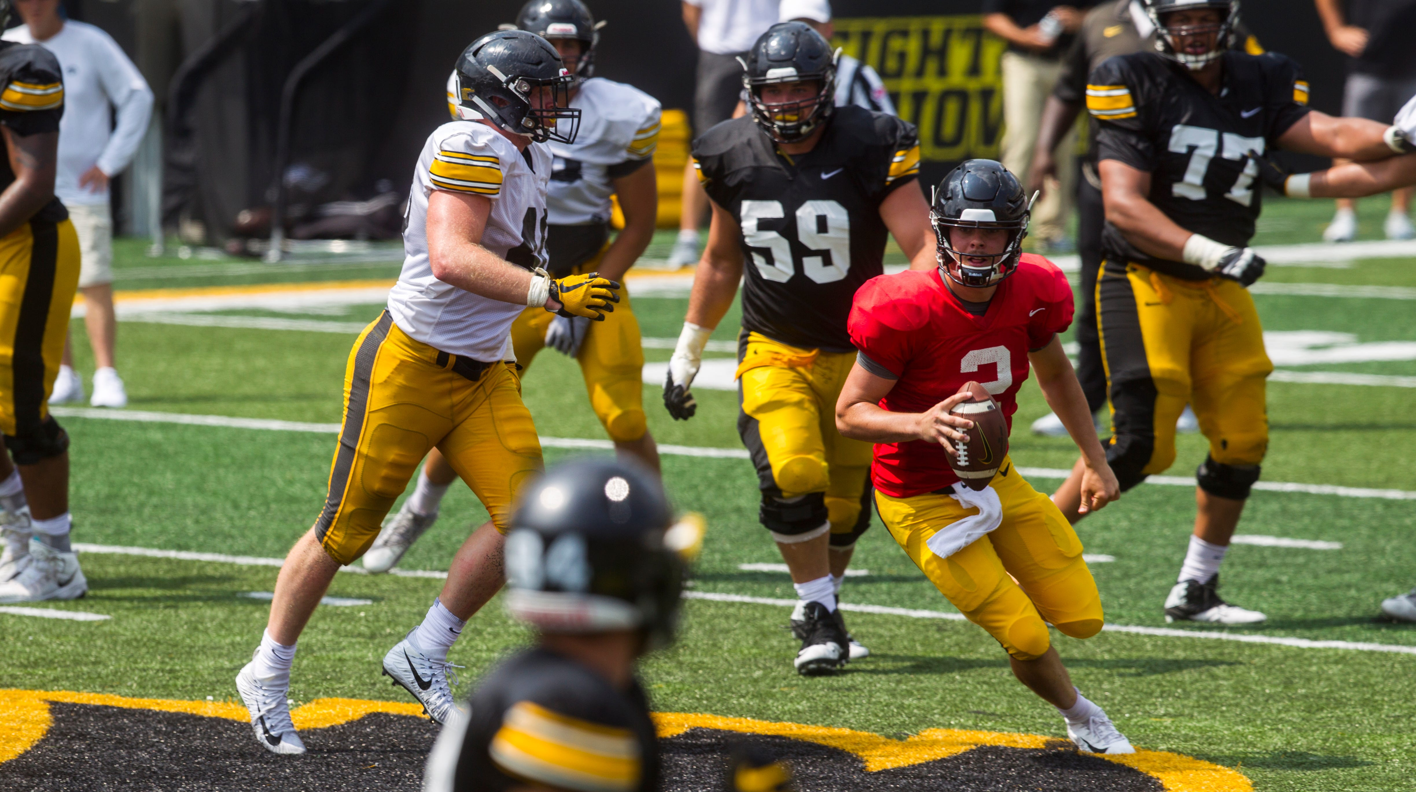 Leistikow: Iowa's backup QB derby is competitive, complex ... and comical