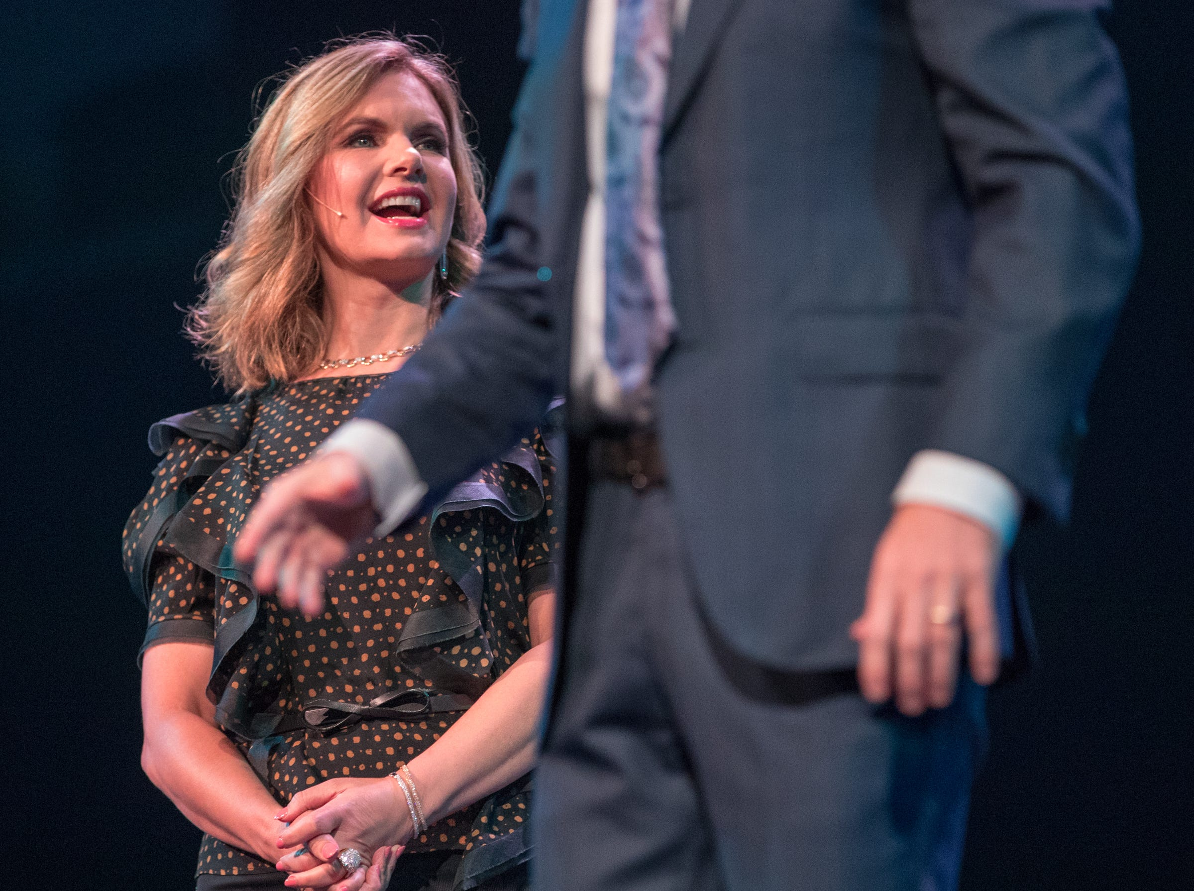 Bankers Life Fieldhouse, Indianapolis, Friday, Aug. 10, 2018. The event, dubbed Night of Hope with Joel and Victoria, drew about 8,000 people to the arena for the event with the Houston-based televangelist.