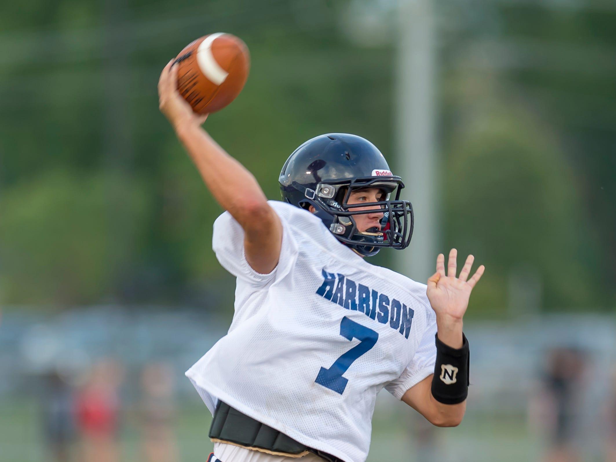 Harrison quarterback Andrew Jensen