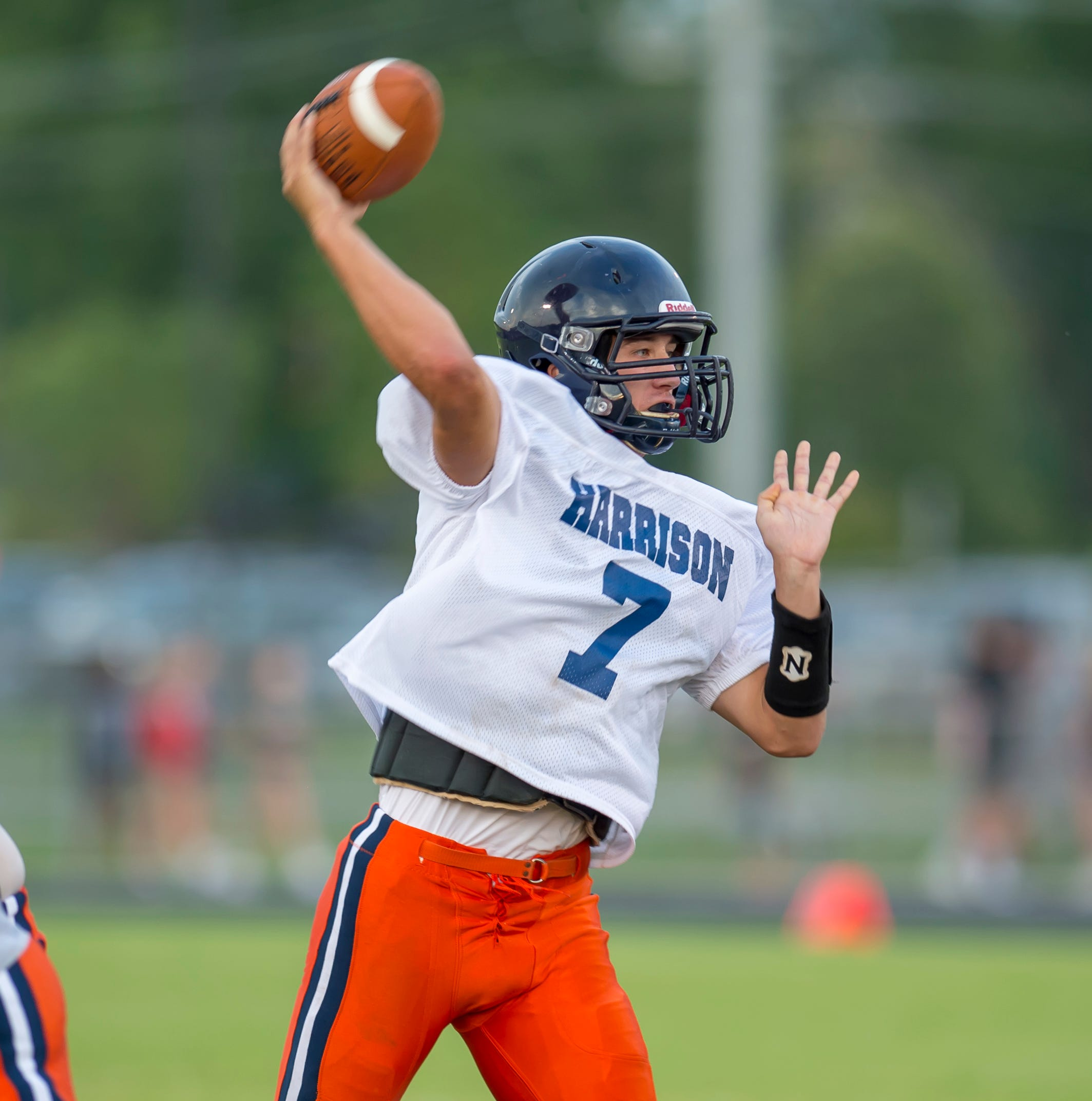 Harrison quarterback Andrew Jensen steps into leadership role