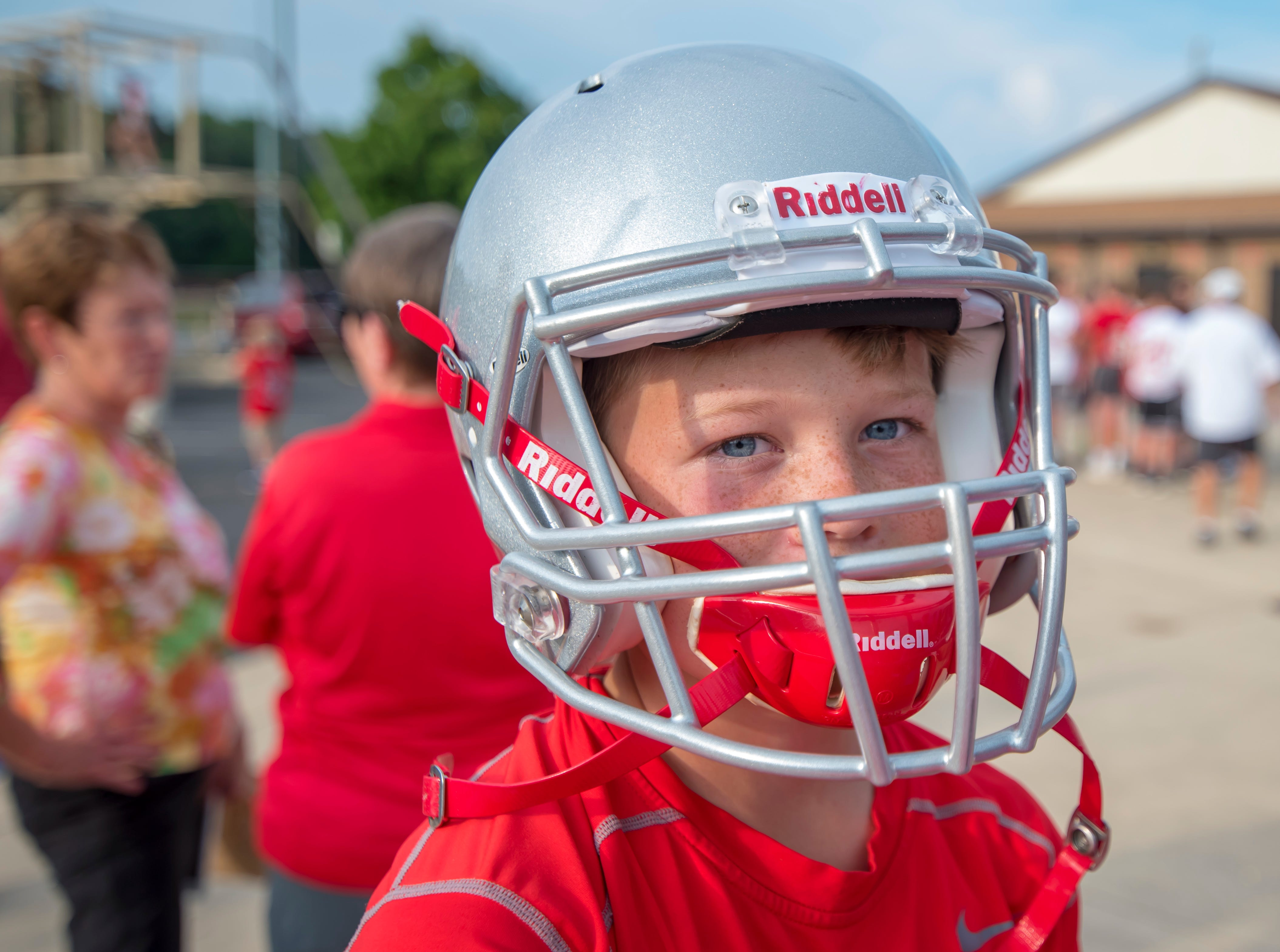 Photo from WL Football Community Night held prior to the football scrimmage between the Harrison Raiders and the West Lafayette Red Devils from Gordon Straley Field