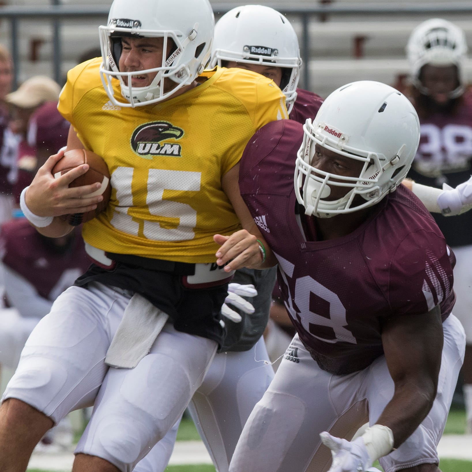 Backup QBs nab spotlight in ULM's first scrimmage