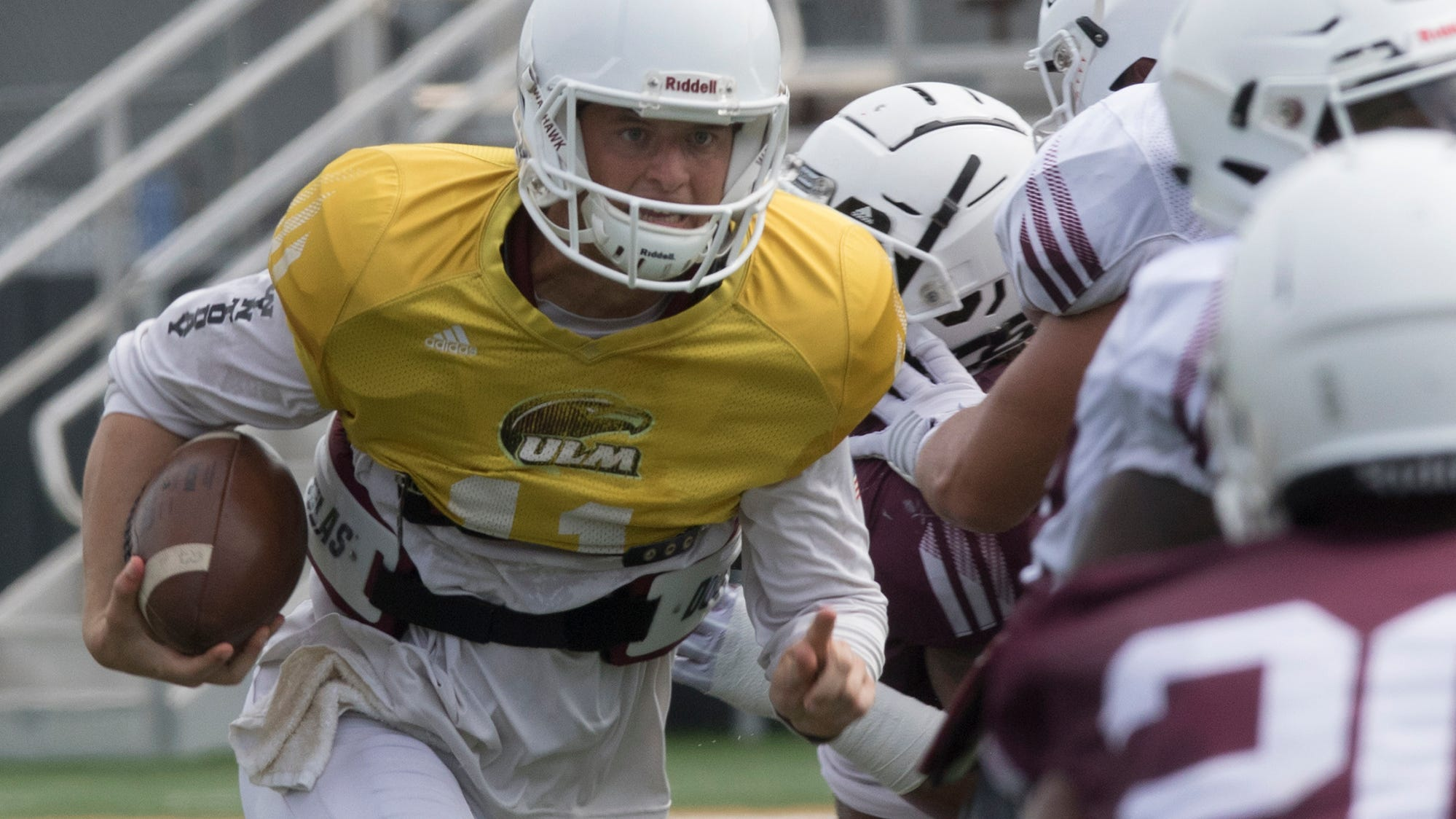 University of Louisiana Monroe held a scrimmage game on August 11 at Malone Stadium in Monroe, La.
