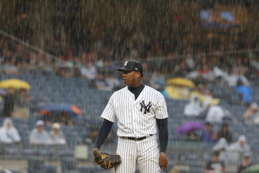 Mlb Texas Rangers At New York Yankees