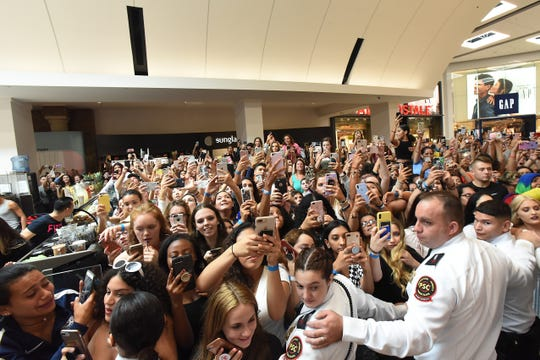 The crowd waits for Jeffree Star to arrive at Morphe. Morphe Grand Opening with YouTube star and makeup artist Jeffree Star at Garden State Plaza in Params on Saturday August 11, 2018.