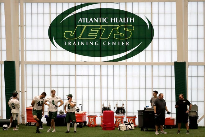 Training camp for New York Jets in Florham Park