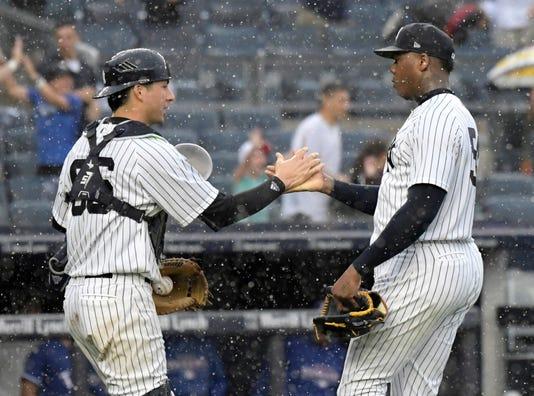 Rangers Yankees Baseball 23