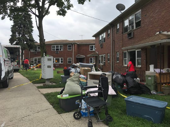 Residents of an apartment complex in Fairview were displaced due to flooding inside the building on Aug. 9. Seen is the complex after a retaining wall collapsed on Saturday, Aug. 11, 2018.
