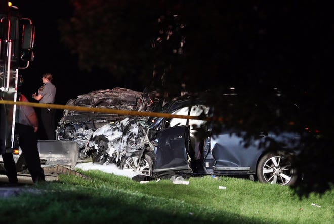 Two vehicles were involved in a crash Friday on Carlisle Pike, just north of Pine Run Road, in Hamilton Township.