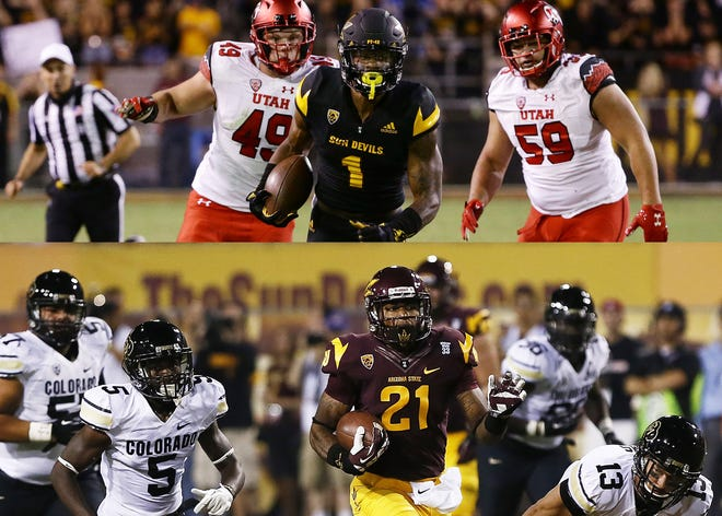 If anyone knows what N'Keal Harry (top) faces this season, it's Jaelen Strong.