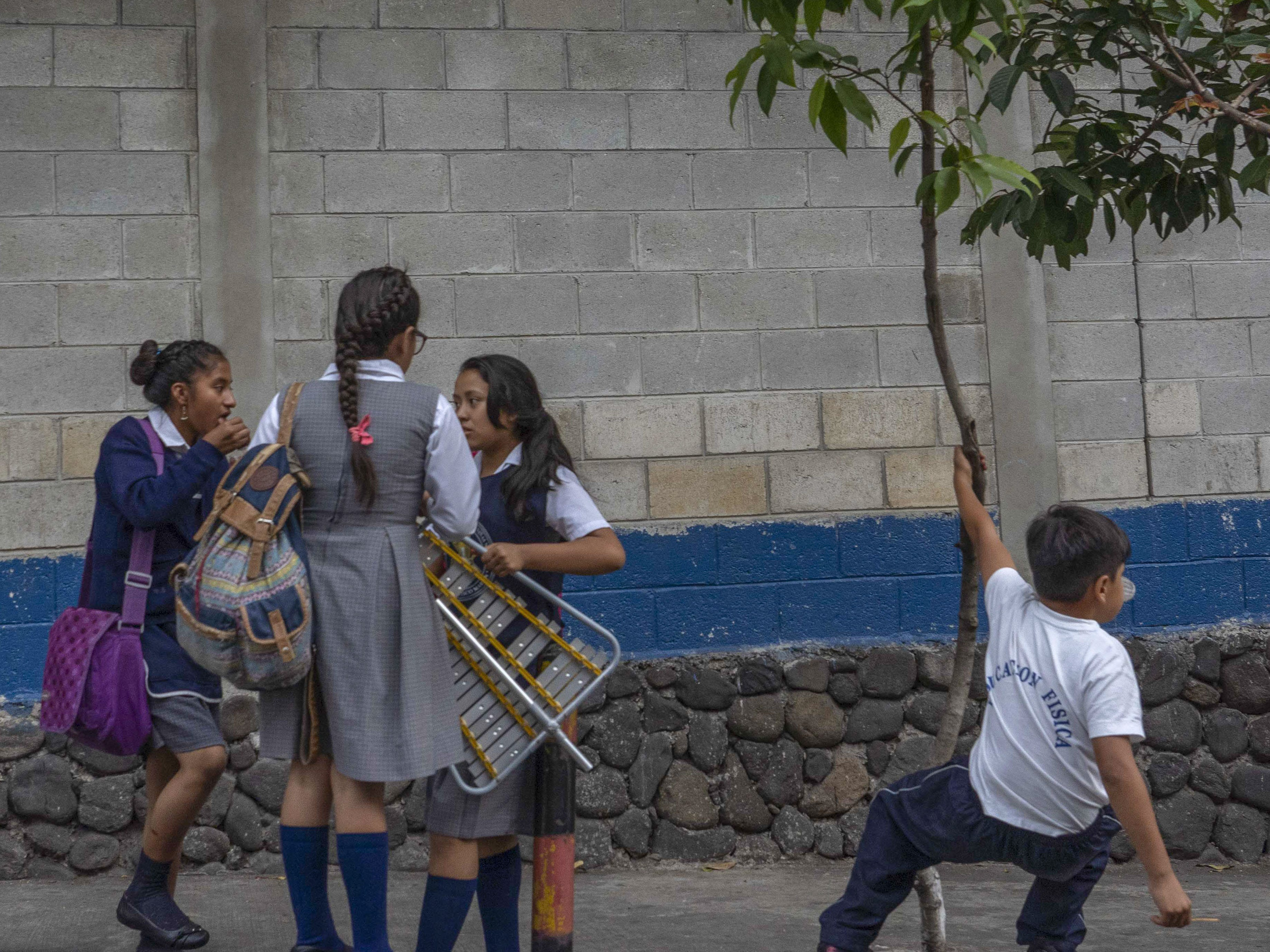 Children play after school in Guatemala. Guatemala is among the poorest countries in Latin America and also one of the most dangerous.