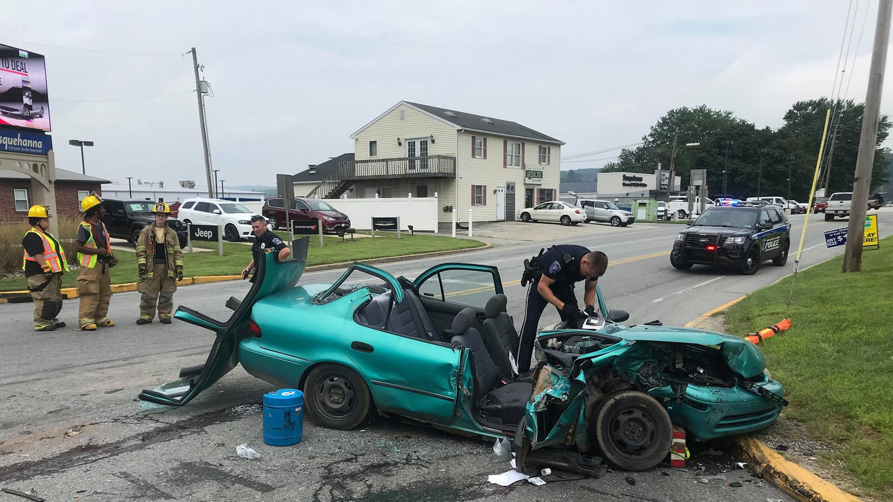 Two-vehicle crash critically injures one in Wrightsville