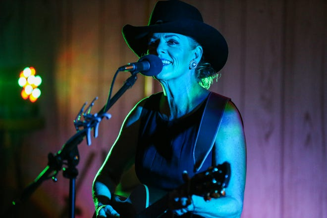 Lori Jo sings with the Heroes of Honky Tonk Friday, Aug. 10, 2018, at the VFW Post in San Angelo.