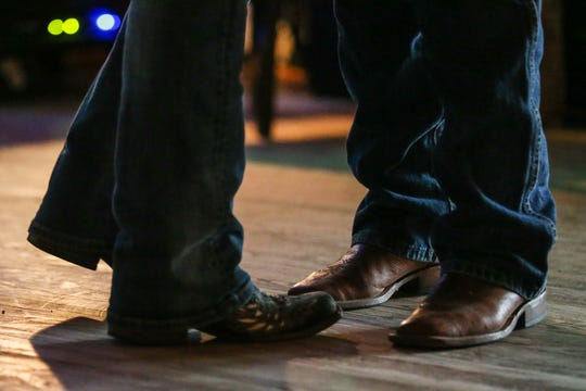 Couples dance while Lori Jo and the Heroes of Honky Tonk perform Friday, Aug. 10, 2018, at the VFW Post in San Angelo.