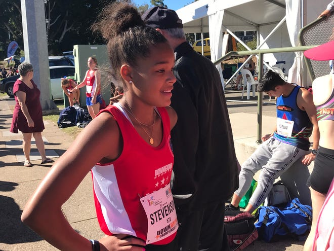 Brianna Stevenson competed in the Down Under Sports Tournament - an international track meet - in Australia.