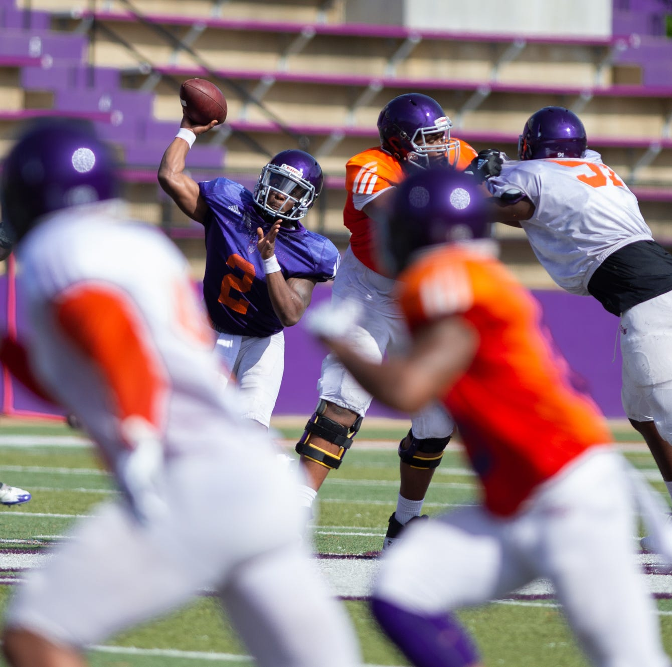 Northwestern State quarterbacks have big day in scrimmage