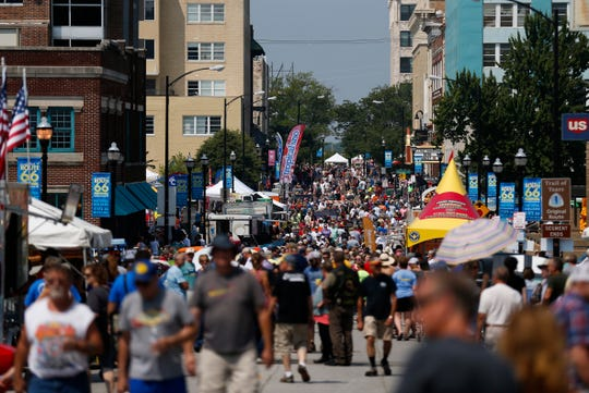 Thousands attended the Birthplace of Route 66 Festival in downtown Springfield on Saturday, Aug. 10, 2018.