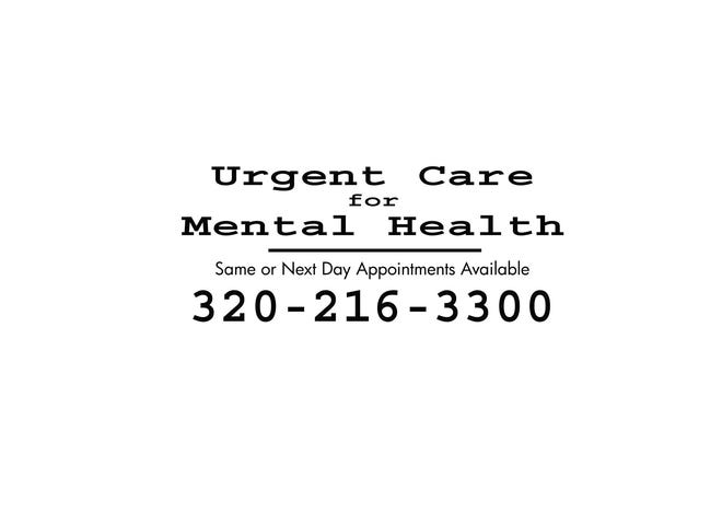 The Beautiful Mind Project uses this graphic online, in print and on billboards to spread the work about urgent mental health care and the availability of same or next-day appointments.