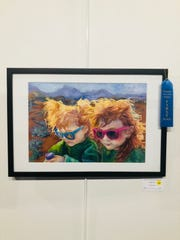 """""""Earth, Wind and Fiery Redheads"""" by Linda Harris, the first place piece in the Earth, Wind & Fire gallery at the Mesquite Fine Arts Center as voted on by art critic Gail Smith."""