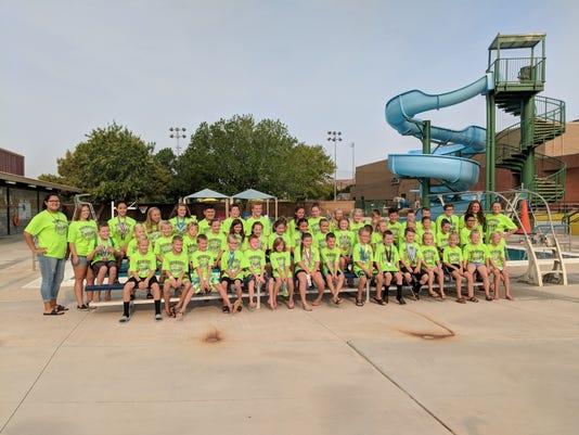 2018 Mesquite Manta Rays swim team
