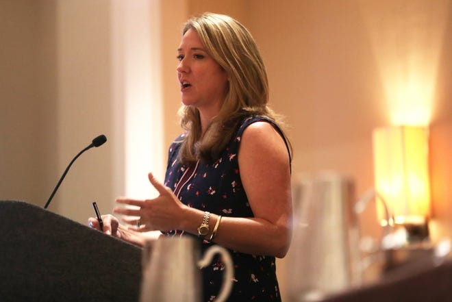 Cissy Proctor, executive director Florida department of economic opportunity, speaks during a breakout group on Southside development during the annual Tallahassee Chamber Conference at the Omni Amelia Island Plantation on Saturday, Aug. 11, 2018.