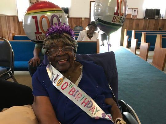 Cornelia Washington celebrates her 100th birthday on Saturday. She credits her long life to faith and kindness.