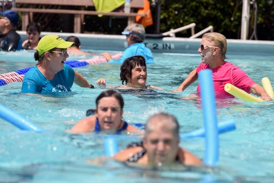 Leisure Square swimming pool supporters are expected to attend City Council's 3 p.m. meeting to urge council to keep the pool running. In this Aug. 11, 2018 photo, members of the Indian River Leisure Square swim team prepare for a Special Olympics swim meet.