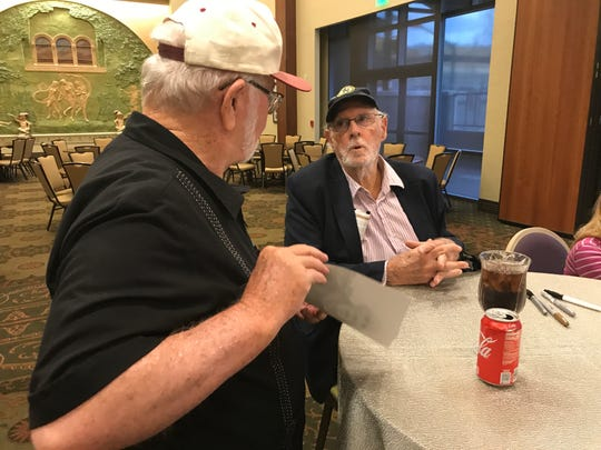 Bruce Dern talks about his movies Saturday with El Paso fan Bill Steele.