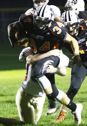 Stratford running back Kade Ehrike is one of the reasons why the Stratford football team has the goal of making a deep run in the WIAA postseason this Fall. The Tigers return 30 letterwinners from last year's squad which reached the Division 5 state quarterfinals.  USA TODAY NETWORK-Wisconsin file photo