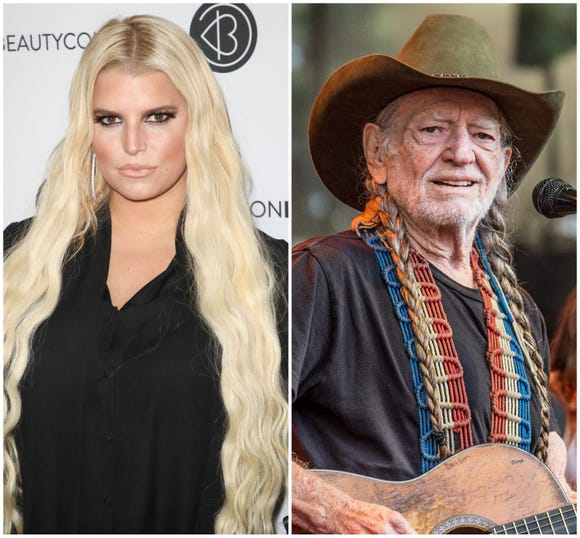 Jessica Simpson and Willie Nelson