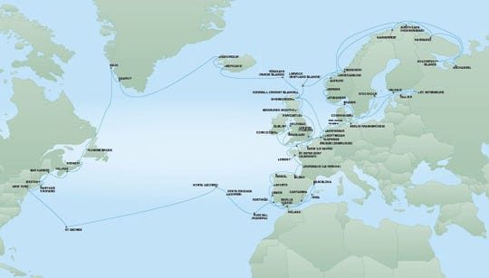 Regent Seven Seas Cruises will offer a voyage from New York to the Russian Arctic and back in 2020.
