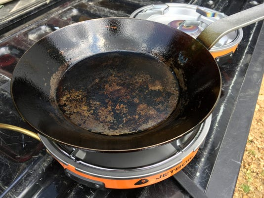 Camp cooking: A seasoned steel pan is a camper's best friend