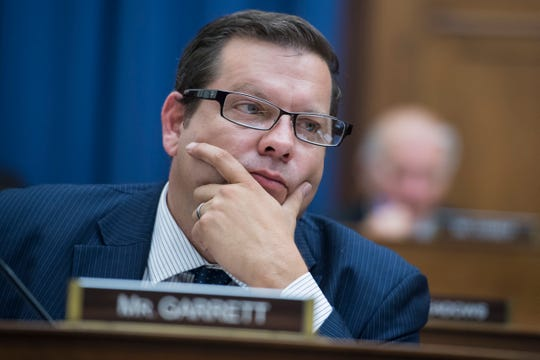 Rep. Tom Garrett, R-Va., attends a House Foreign Affairs Committee markup in Rayburn Building on May 17, 2018.