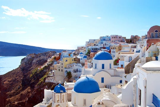 The picture-perfect village of Oia in Santorini, resting a thousand feet high above a volcanic crater, is a dream come true for photographers and sunset watchers.
