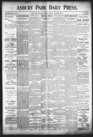 Front page of the Asbury Park Press from Aug. 7, 1899.
