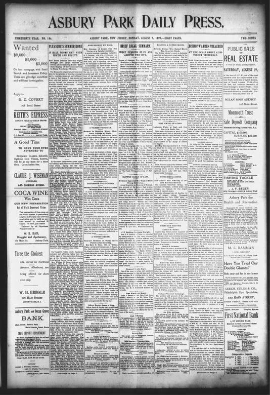 Asbury Park Press Mon Aug 7 1899