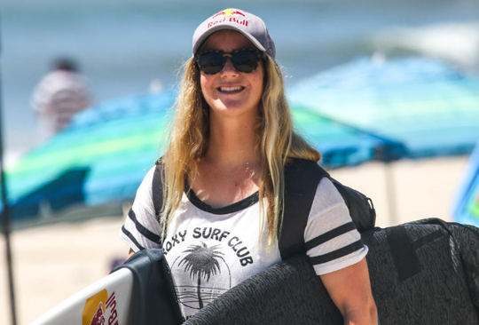 Caroline Marks on the beach at Los Cabos, Mexico.