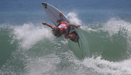 Caroline Marks showing her form in winning at Los Cabos, Mexico, earlier this year.